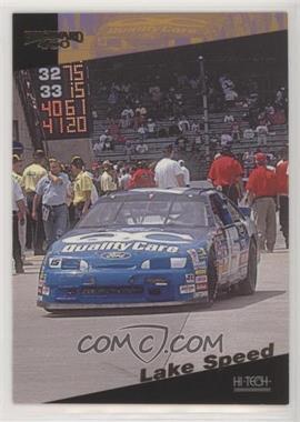 1995 Hi-Tech Brickyard 400 - [Base] - Gold Foil #38 - Lake Speed