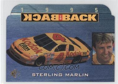 1995 SP - Back to Back #BB3 - Sterling Marlin