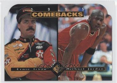 1995 SP - [Base] #CB1 - Ernie Irvan, Michael Jordan