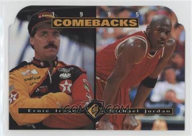1995 SP - [Base] #CB1 - Ernie Irvan, Michael Jordan