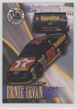 1996 Press Pass Premium - [Base] - Emerald Proof #43 - Ernie Irvan /380