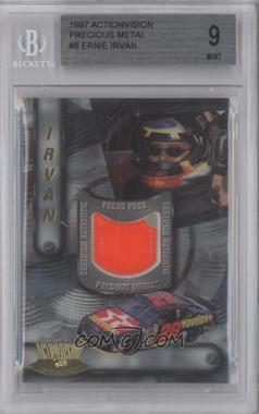 1997 Press Pass Actionvision - Precious Metal #8 - Ernie Irvan /375 [BGS9MINT]