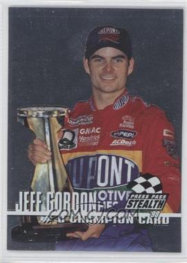 1998 Press Pass Stealth - Champion Card - Silver #0 - Jeff Gordon