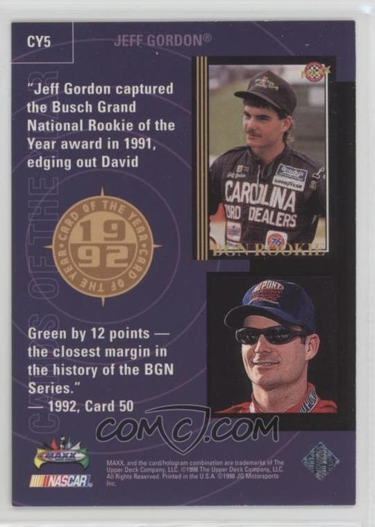 1998 Upper Deck Maxx 10th Anniversary Card Of The Year