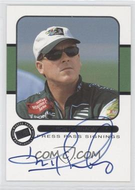 2001 Press Pass - Signings #ROHO - Ron Hornaday