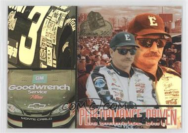 2001 Press Pass Premium - Performance Driven #PD 3 - Dale Earnhardt