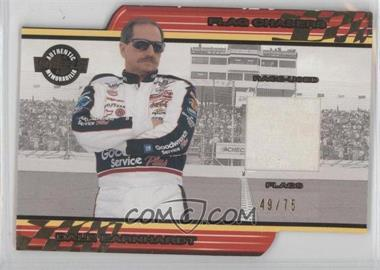 2001 Wheels High Gear - Flag Chasers - White #FC 3 - Dale Earnhardt /75