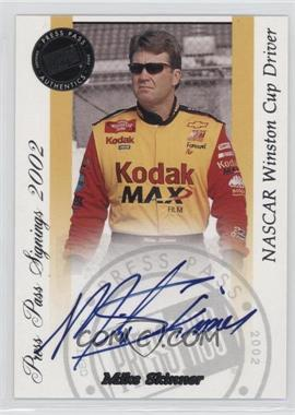 2002 Press Pass - Signings #MISK - Mike Skinner