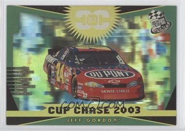2003 Press Pass - Cup Chase Redemption Contest #CCR4 - Jeff Gordon