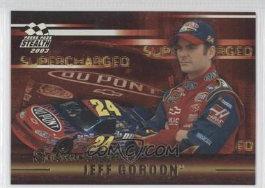 2003 Press Pass Stealth - Supercharged #SC 1 - Jeff Gordon