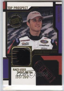 2004 Press Pass - Top Prospect Race-Used #KK-SM - Kasey Kahne (Sheet Metal) /200