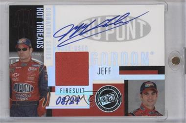 2004 Press Pass Premium - Hot Threads Signature Series #HT-JG - Jeff Gordon /24