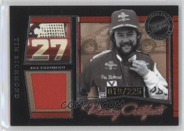 2005 Press Pass Legends - Racing Artifacts Firesuits - Silver #F-F - Tim Richmond /225