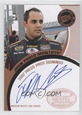 2007 Press Pass - Press Pass Signings - Bronze #JUMO - Juan Pablo Montoya
