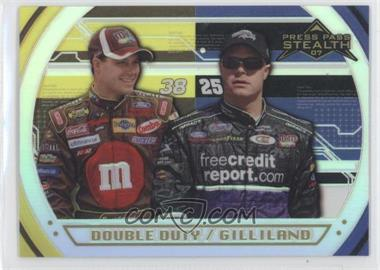 2007 Press Pass Stealth - [Base] - Chrome Platinum #P78 - David Gilliland /25