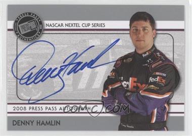 2008 Press Pass - Autographs - Silver #N/A - Denny Hamlin