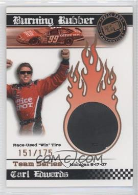2008 Press Pass - Burning Rubber Race-Used Tire - Bronze Team Series #BRT 14 - Carl Edwards /175