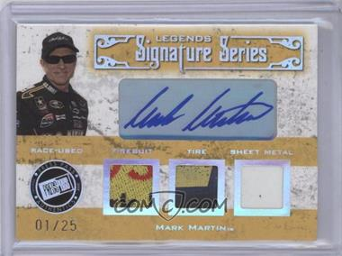 2008 Press Pass Legends - Legends Signature Series Autographed Memorabilia - [Autographed] #LS-MM - Mark Martin /25