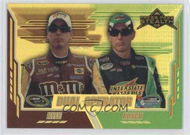 2008 Press Pass Stealth - [Base] - Gold Chrome Exclusives #75 - Kyle Busch /99
