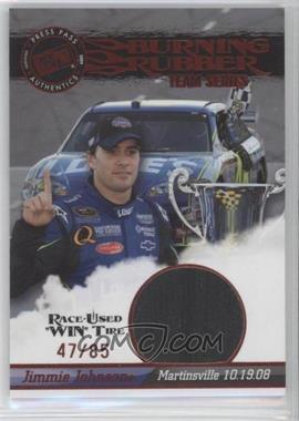2009 Press Pass - Burning Rubber Race-Used Tire Team Series #BRT32 - Jimmie Johnson /85