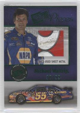 2009 Press Pass - Pieces Materials - Green #PP-MW - Michael Waltrip /99
