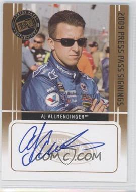 2009 Press Pass - Press Pass Signings - [Autographed] #AJAL - AJ Allmendinger