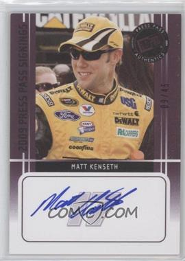 2009 Press Pass - Press Pass Signings - Purple [Autographed] #MAKE - Matt Kenseth /45