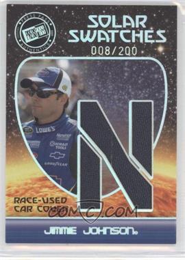 2009 Press Pass Eclipse - Solar Swatches #SSJJ 7 - Jimmie Johnson (N) /200