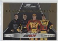 Clint Bowyer, Jeff Burton, Kevin Harvick, Casey Mears #/125