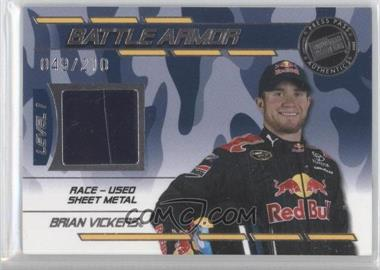 2009 Press Pass Stealth - Battle Armor - Level 1 #BA - BV - Brian Vickers /210