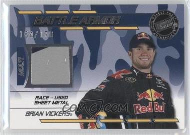 2009 Press Pass Stealth - Battle Armor - Multi-color #BA - BV - Brian Vickers /170