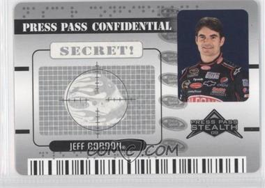 2009 Press Pass Stealth - Confidential - Secret Silver #PC 16 - Jeff Gordon