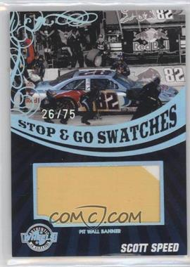 2009 Wheels Main Event - Stop & Go Swatches - Holo Pit Wall Banner #SGB-SS - Scott Speed /75