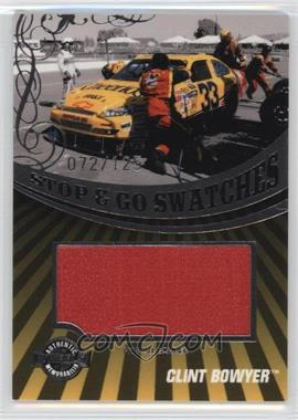 2009 Wheels Main Event - Stop & Go Swatches - Pit Wall Banner #SGB-CB - Clint Bowyer /125