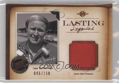 2010 Press Pass Legends - Lasting Legacies Memorabilia - Copper #LL-CY - Cale Yarborough /150