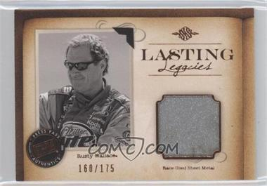 2010 Press Pass Legends - Lasting Legacies Memorabilia - Copper #LL-RW1 - Rusty Wallace /175