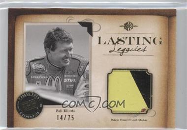2010 Press Pass Legends - Lasting Legacies Memorabilia - Gold #LL-BE2 - Bill Elliott /75