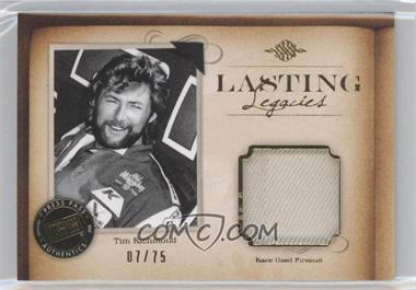 2010 Press Pass Legends - Lasting Legacies Memorabilia - Gold #LL-TR1 - Tim Richmond /75