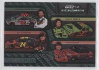 Dale Earnhardt Jr., Danica Patrick, Jeff Gordon, Tony Stewart #/50