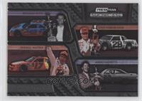 Richard Petty, Cale Yarborough, Darrell Waltrip, Mario Andretti #/499