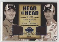 Kyle Busch, Joey Logano [Noted] #/75