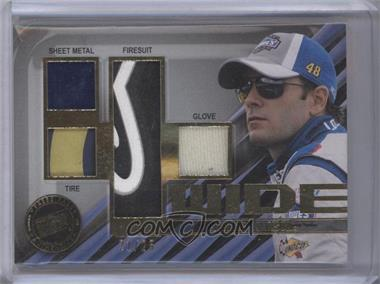 2011 Press Pass - 4 Wide Memorabilia #FW-JJ - Jimmie Johnson /25