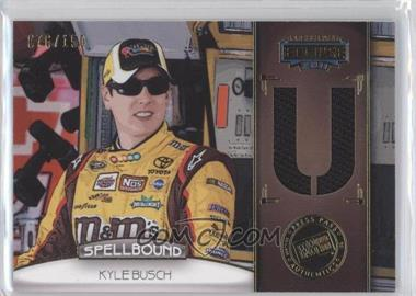 2011 Press Pass Eclipse - Spellbound Swatches #SB-KYB 2 - Kyle Busch (U) /150