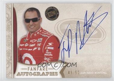 2011 Press Pass Fanfare - Fanfare Autographs - Gold #FA-JPM - Juan Pablo Montoya /50