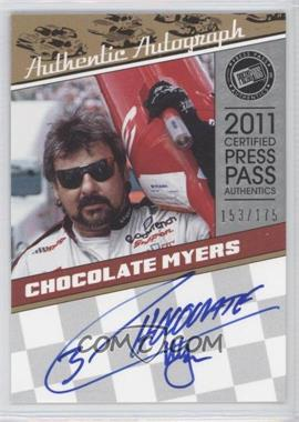 2011 Press Pass Legends - Autographs - Silver #LGA-CM - Chocolate Myers /175