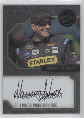 2011 Press Pass Stealth - Press Pass Signings - Brushed Metal [Autographed] #PPS-MA1 - Marcos Ambrose /60