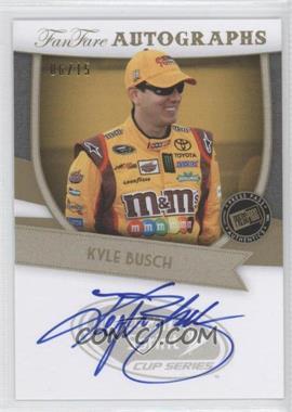 2012 Press Pass Fanfare - Autographs - Gold #FF-KYB1 - Kyle Busch /15
