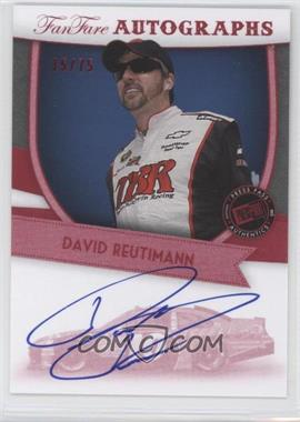 2012 Press Pass Fanfare - Autographs - Red #FF-DR2 - David Reutimann /75