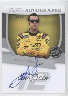 2012 Press Pass Fanfare - Autographs - Silver #FF-SH - Sam Hornish Jr. /299