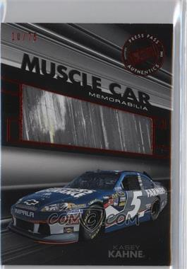 2012 Press Pass Redline - Muscle Car Memorabilia - Red #MC-KK - Kasey Kahne /75